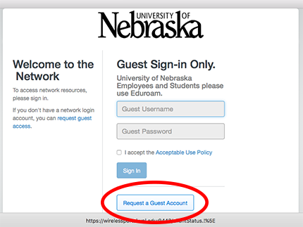 Guest Sign-in example